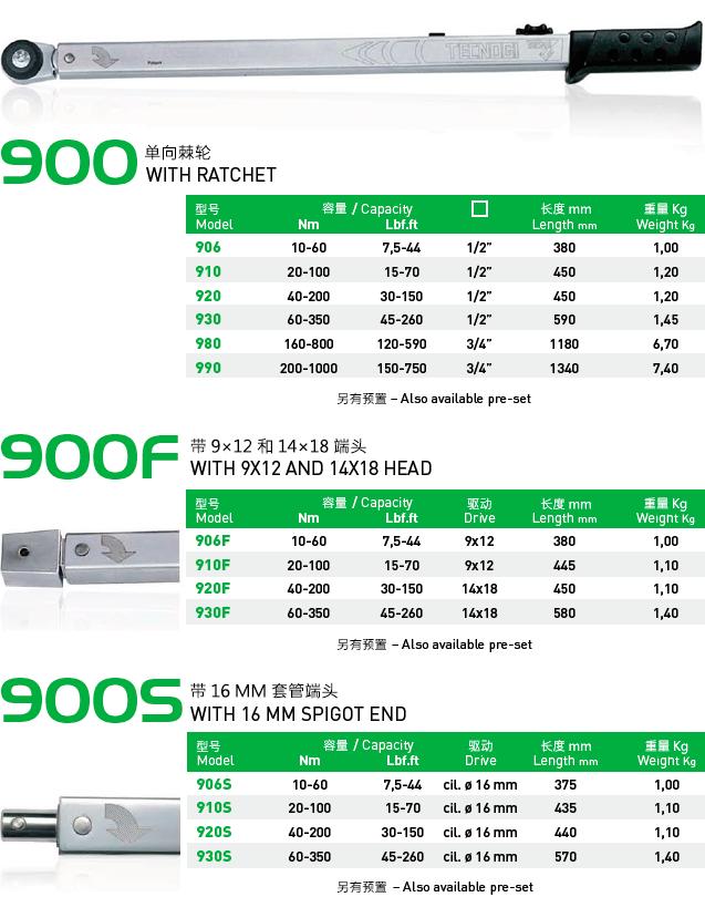 900系列 – 机械扭矩扳手